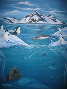 Art Studio Patricia Smart Spinebill Studio Blue mountains artist painting Australian artist BMCAN Trish Smart Painting antarctica
