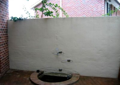 Before Fish pond Mural