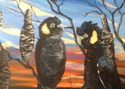 Black-cockies-painting