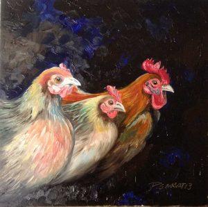 Art Studio Arts trail Patricia Smart Spinebill Studio Blue mountains artist painting Australian artist BMCAN chickens chooks