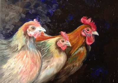 Chickens-painting