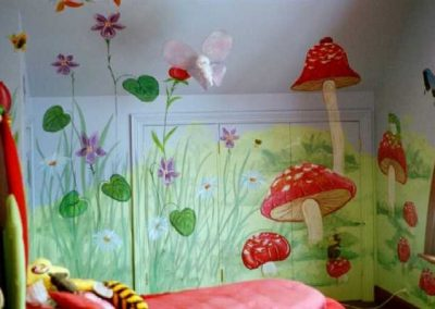 Giant garden Mural kids bedroom