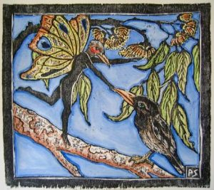 Art Studio Patricia Smart Spinebill Studio Blue mountains artist painting Australian artist BMCAN Trish Smart Printmaking