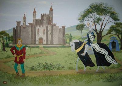Medieval knight Mural Becsmart Murals