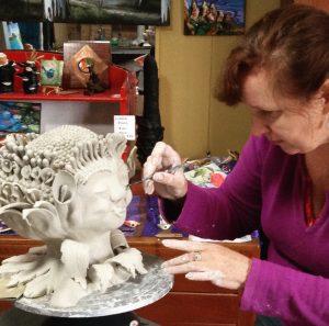 Art Studio Patricia Smart Spinebill Studio Blue mountains artist painting Australian artist BMCAN Trish Smart ceramics