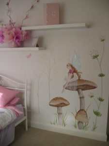 Art Studio Becsmart Murals Mural kids art Childrens room interior decorating nursery baby's room rooms pre school early childhood school murals Patricia Smart Spinebill Studio Blue mountains artist painting Australian artist BMCAN faeries fairy