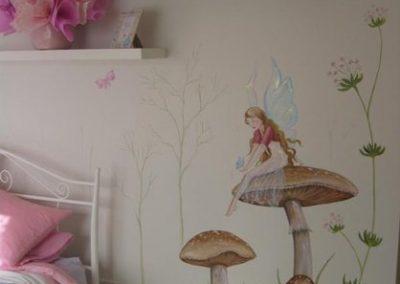 fairy on mushroom Mural Becsmart Murals