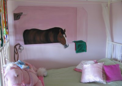 horse Mural children's Bedroom