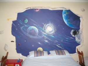 Art Studio Becsmart Murals Mural kids art Childrens room interior decorating nursery baby's room rooms pre school early childhood school murals Patricia Smart Spinebill Studio Blue mountains artist painting Australian artist BMCAN