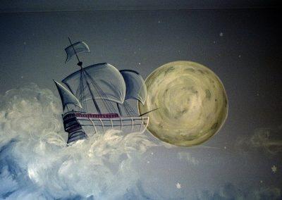 Peter Pan ship Mural Becsmart Murals