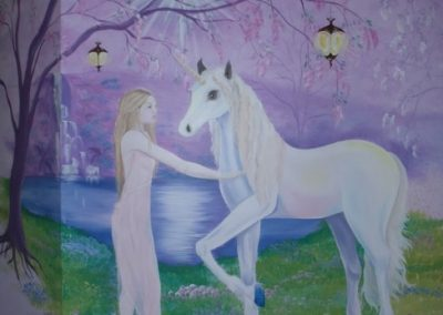 unicorn and girl